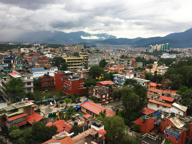 view of city in nepal