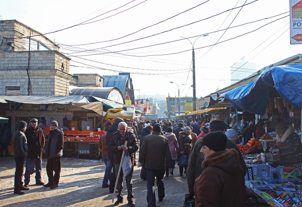 marketplace in eastern europe