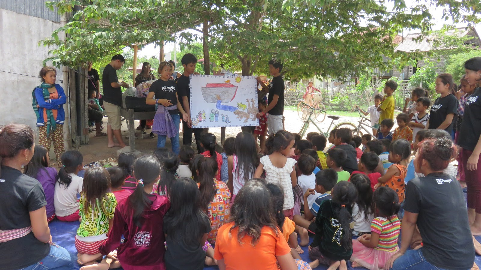 Bible camp for children in Cambodia
