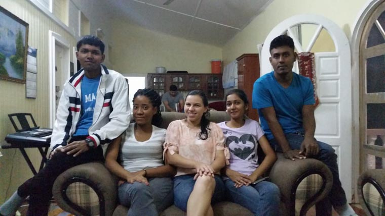 Young Christian Guyanese that are being trained to be pastors and sunday school teachers